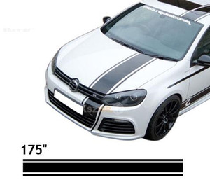 "175"" Car Styling Car Racing Stripes Decal Vinyl Covers Waterproof Roof Line Stickers For All Cars"
