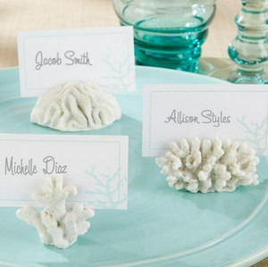 Wholesale Wedding Favors And Gifts quot seven Seas quot Coral Place Card Photo Holder Beach Theme Wedding Frame SN101