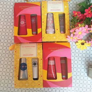 Wholesale hand cream sets for sale - Group buy Hand Cream Lip Balm Set per set Moisturizing Hand Care and Good Quality