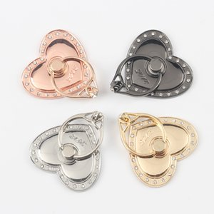 Wholesale Universal Degree Love Heart Shape Finger Ring Holder Crystal Diamond Ring Phone Holder Stand Phone Holder for iphone XS MAX Samsung