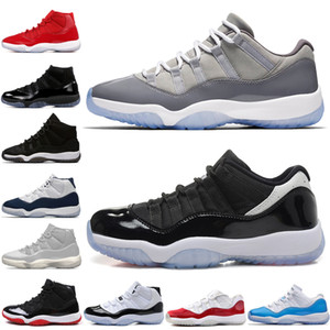 ingrosso tappo di pasqua-11 s Cap and Gown Prom Night Men Scarpe da pallacanestro Platinum Tint Gym Red Bred PRM Heiress Barons Concord Easter Grey mens sneakers sportive