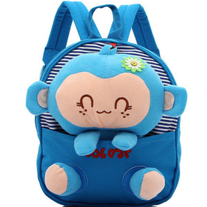 Wholesale bags monkey resale online - Cartoon Monkey Kid Backpack For Child School Bag Cute Plush Doll For Children Kids School Bags Kids Kindergarten Baby Gift