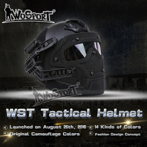 Wholesale Tactical Helmet BJ MH PJ ABS Mask with Goggle for Airsoft Paintball tactical helmet CS WarGame equipment
