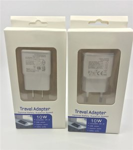 Wholesale Real Full V A USB Wall Charger EU US Plug Travel Adapter with retail package box For Samsung S5 S6 S7 S8
