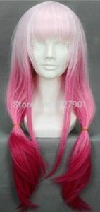 Wholesale Fashion Party Guilty Crown Soft Cosplay Wigs Pink Gradient Ramp Bride Wig Hair