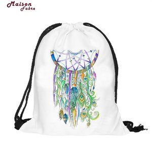 Wholesale Naivety Women Bag Bird Patten Printing Drawstring Backpack Cute Fabric Shopping Tote New S6095 drop shipping O1009