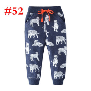 100% cotton Baby deep blue tiger boys pant Terry Trousers kids children clothing tigers full print pants trousers pants 2-7T pants shorts