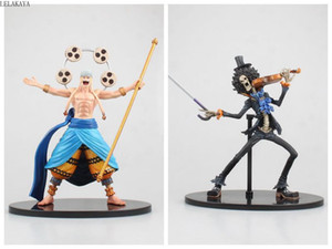Wholesale 19 cm Enel Brook Violin Ver Anime One Piece Anime Action Figure Model PVC Scultures Big Vol Black Decoration Gift Doll New