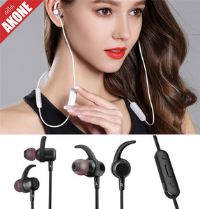 Wholesale AKone Bluetooth Wireless Sports Headset Dual Battery Super Long Standby In ear Headphone Magnetic Mega Bass Stereo Earphone For iPhone Andro