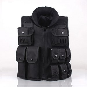 Wholesale CS GO Tactical Vest Army Outdoor Body Armor Swat Combat Hunting Molle Vest Black for Men