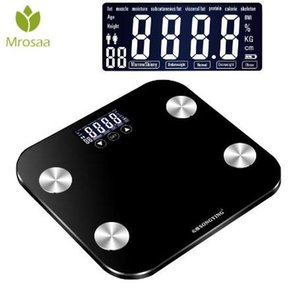Wholesale Electronic Digital Scale Glass Smart Weight Balance Bariatric BMI Fat Water Calories Muscle Bone LCD Bathroom Scales KG G