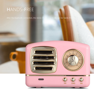 Wholesale speaker for tf sd for sale - Group buy HM11 Vintage Bluetooth Wireless Speaker Retro Heavy Bass Mini Portable Speaker For Support Micro SD TF Card Music Player