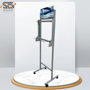 Wholesale Hot sell display stands for wiper retail wire metal powder coated factory wiper display racks metal display shelves