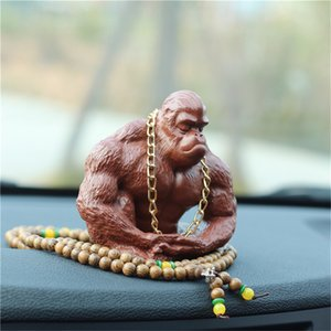 Wholesale Creative car ornaments Paul peace perfume seat ceramic car decorations Chinese style character modeling overbearing King Kong