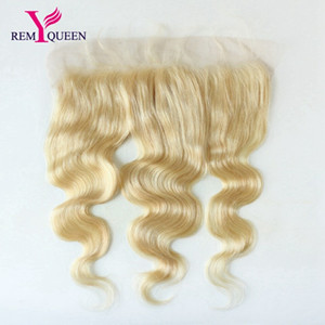 "Wholesale Dream Virgin Human Hair 613 Blonde Body Wave 13*4 Bleached Knots Hair Piece 8-20"" Ear to Ear Lace Frontal Closure with Baby Hair"
