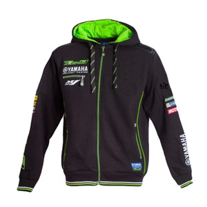 New 2018 Moto GP Tech 3 Hoodies for Yamaha M1 Racing Team Adult Windproof Motorcycle Sports Jacket Men's Zip-up Sweatshirts