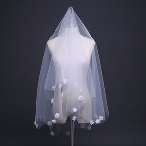 Wholesale Marry Bride Veil Flowers M Long Sweet Short Paragraph for Wedding Party Head Veil White Wedding Bridal