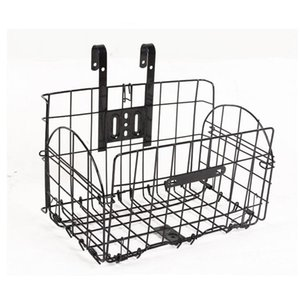 Folding Metal Wire Bicycle Front Handlebar Storage Basket Bike Cargo Rack Cycling Mountain Road Bike MTB Accessories fietstas on Sale