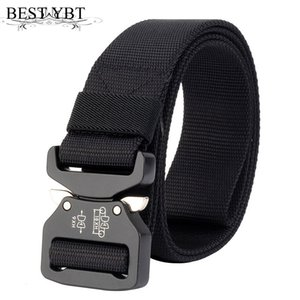 Wholesale Best YBT Unisex belt high quality Alloy Insert buckle Nylon Men belt outdoor sport quick release Men cowboy pants casual