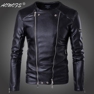 Wholesale- Avirex flight jacket fur collar genuine leather jacket men winter dark brown sheepskin coat pilot bomber jacket on Sale