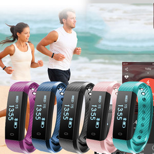 Wholesale l ID115 Smart Bracelet Fitness Tracker Watch Alarm Clock Step Counter Smart Wristband Bluetooth Sport Sleep Monitor Track