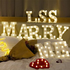 Wholesale LED English Letters Lamp Wedding Ceremony Romantic Courtship Lamps Birthday Party Decor Modeling Night Light I Love You 7 5yc Ww