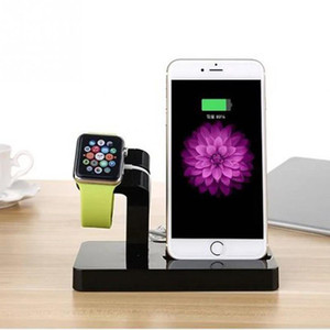 Wholesale 2 in Charging Dock Station Bracket Cradle Stand Holder Charger iPhone X S Plus S For Apple Watch Charger