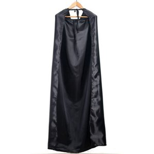 Wholesale New Black Halloween Costume Theater Prop Death Hoody Cloak Devil Long Tippet Cape Cosplay Fashion Dropshipping
