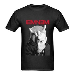 Wholesale Eminem Horns Image Tour Two Sides Tee Black Men s T Shirt Size S to XL France Soccerer Jersey Harajuku Cool T Shirt Homme