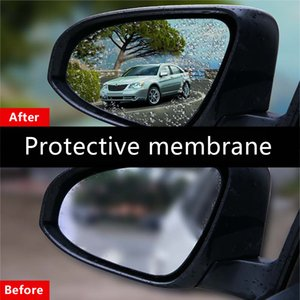 Wholesale Anti Fog Membrane Car Rear Mirror Sticker Anti fog Waterproof Rainproof Window Clear Vision Film Auto Care PET