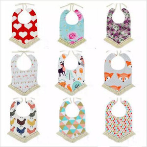 Baby Bandana Bibs INS Tassel Saliva Towels Newborn Burps Cloths Head Scarf Children Cartoon Fox Turban Bib Baberos Baby Feeding Cloth