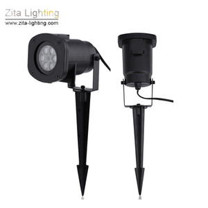 Wholesale 4Pcs Zita Lighting Laser Projection Spot Lights LED Projector Laser Lawn Lamp Landscape Pattern Decoration Wedding Party Festival Effect
