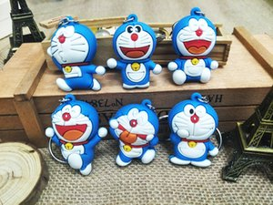 Wholesale Cartoon Anime Cute Key ring Cover doraemon stitch Bear Keychain Silicone super hero porte clef cap minne key protect