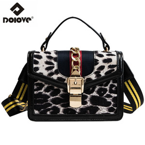 Wholesale DOLOVE Fashionable New Style Women s Bags Leopard Print Messenger Bags Single shoulder Slanted Across Handbags