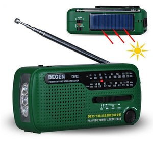 Wholesale Hot Sale Original Radio DE13 Receiver FM MW SW Crank Dynamo Emergency Portable World Radio Recorder Q0366