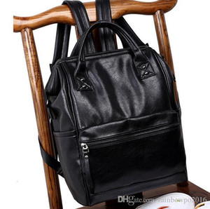 Wholesale Factory outlet brand bags leisure Korean sports all match Leather Backpack pocket stitching three dimensional fashion leather handbag