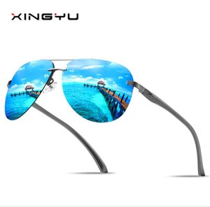 Wholesale New classic Polarized Sunglasses series colorful film toad mirror spring aluminum and magnesium legs