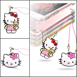 Wholesale Lovely Hello Kitty D PVC Mobile Phone Hanging Strap Pendant Ornament with Hanging Strap Bags Accessories