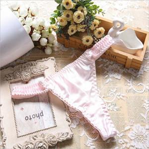 Women underwear 100% Mulberry Silk G-String Panties women briefs thongs bragas women panties Sexy Thong T back Pantiess