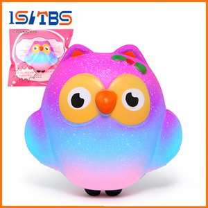 Wholesale 2018 Hot Sale Galaxy Squishy Cute Owl Slow Rising Cream Scented Squeeze Toys Original Packaging DHL