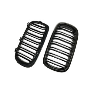Wholesale For BMW Carbon Grille X Series X5 F15 X6 F16 Carbon Fiber Front Grille Dual Slats Gloss Black Finish UP
