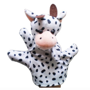 Wholesale Cute Baby Child Zoo Farm Animal Hand Sock Glove Puppet Finger Sack Plush Toy NewModel Cow