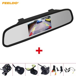 Wholesale rear view mirror system for sale - Group buy FEELDO Car quot LCD TFT Rearview Mirror Monitor With Rear View Parking Camera Video System G Wireless Cigarette Lighter Optional