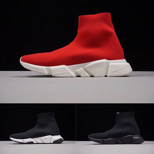 Wholesale Name Brand High Quality Unisex Casual Shoes Flat Fashion Socks Boots Woman New Slip on Elastic Cloth Speed Trainer Runner Man Shoes Outdoors