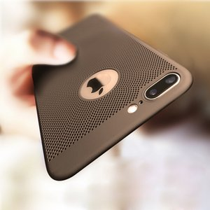 For IPhone 7 5 5S SE 8 Plus Case Ultra Slim Grid Heat Dissipate Case For IPhone 6 6S Plus Luxury Matte Hard PC Protective Cover