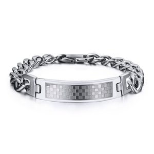 Drop shipping brand new top quality men's stainless steel bracelet bracelets fashion jewelry accessories source factory seller wholesale 058