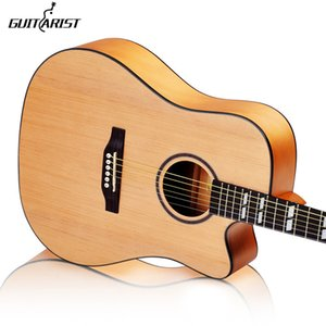 Wholesale guitars 41 inch Picea Asperata wood Electric Acoustic Guitar Rosewood Fingerboard guitarra with guitar strings