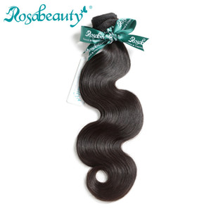 Rosa Beauty Hair Products Brazilian Virgin Hair Body Wave 1 Piece 100% Unprocessed Human Weave Bundles Raw Weaving