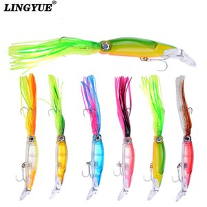 Wholesale New High Quality Lifelike Octopus Squid Jig Fishing Lure cm g Colors Available Fishing Bait with Treble Hook Tackle Y18100906