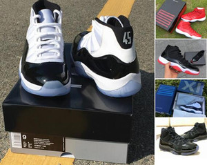 Concord 11 378037-100 Blackout 11s prom night 11 Real carbon fiber Top Quality Gym Red Gamma blue Basketball shoes Bred With Box